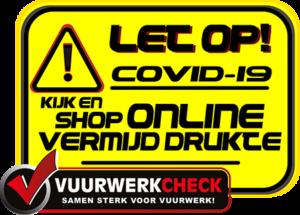 Covid-19/corona: Koop/bestel je vuurwerk online!